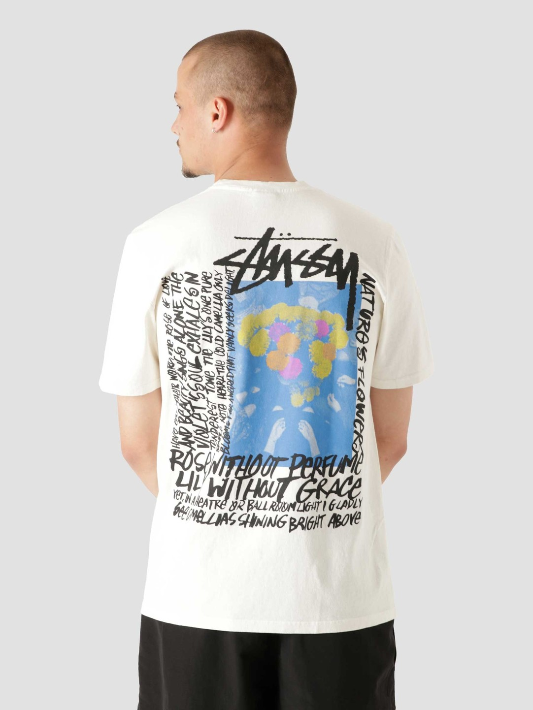 Stussy Stussy Camellias Pig. Dyed T-Shirt Natural 1904695