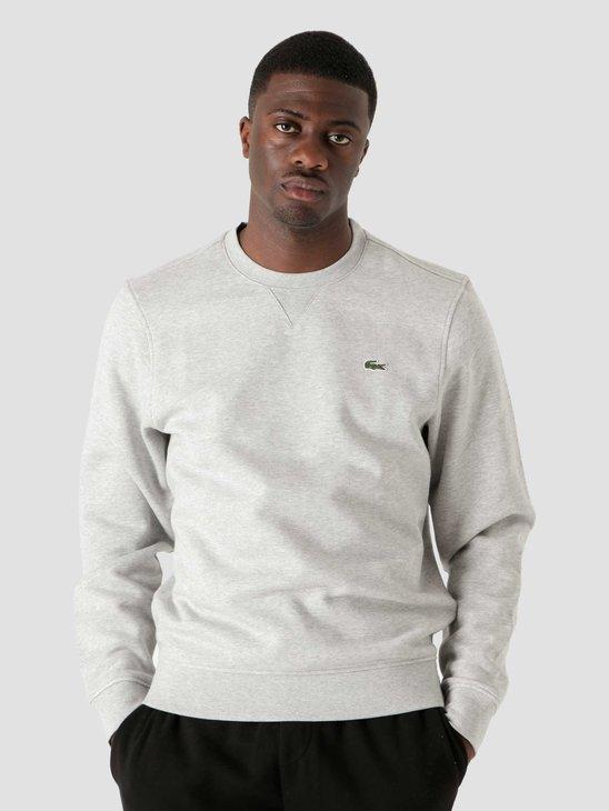 Lacoste 1HS1 Men's Sweater Silver Chine Elephant SH1505-11