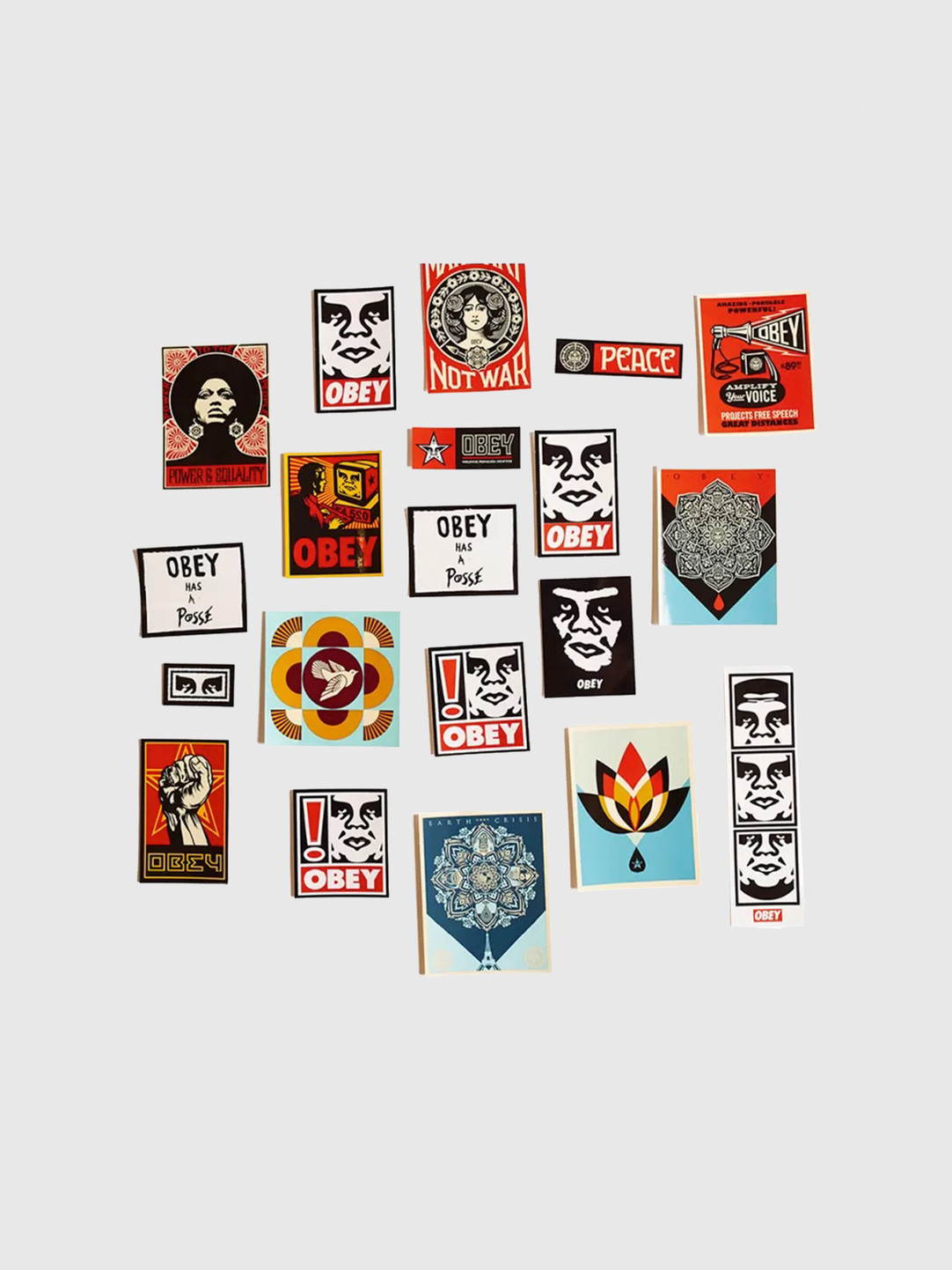 Obey Obey Sticker Pack 5 Assorted 100270012