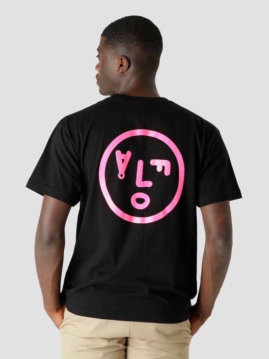 Olaf Hussein OLAF Face T-Shirt Black Pink
