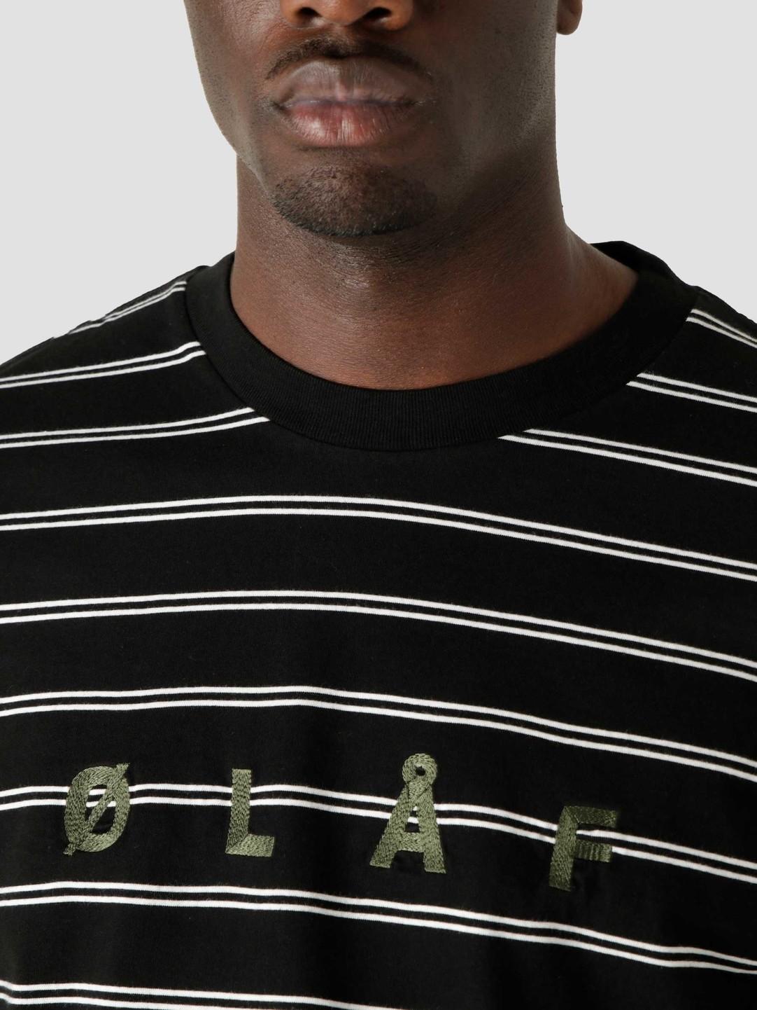 Olaf Hussein Olaf Hussein OLAF Mini Stripe Longsleeve Black White