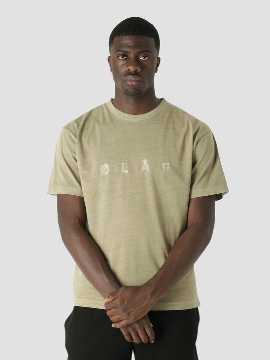 Olaf Hussein OLAF Chainstitch T-Shirt Moss Green