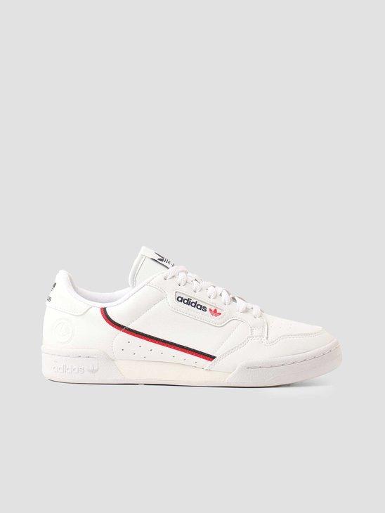 adidas Continental 80 Ftwr White Collegiate Navy Socksarlet FW2336