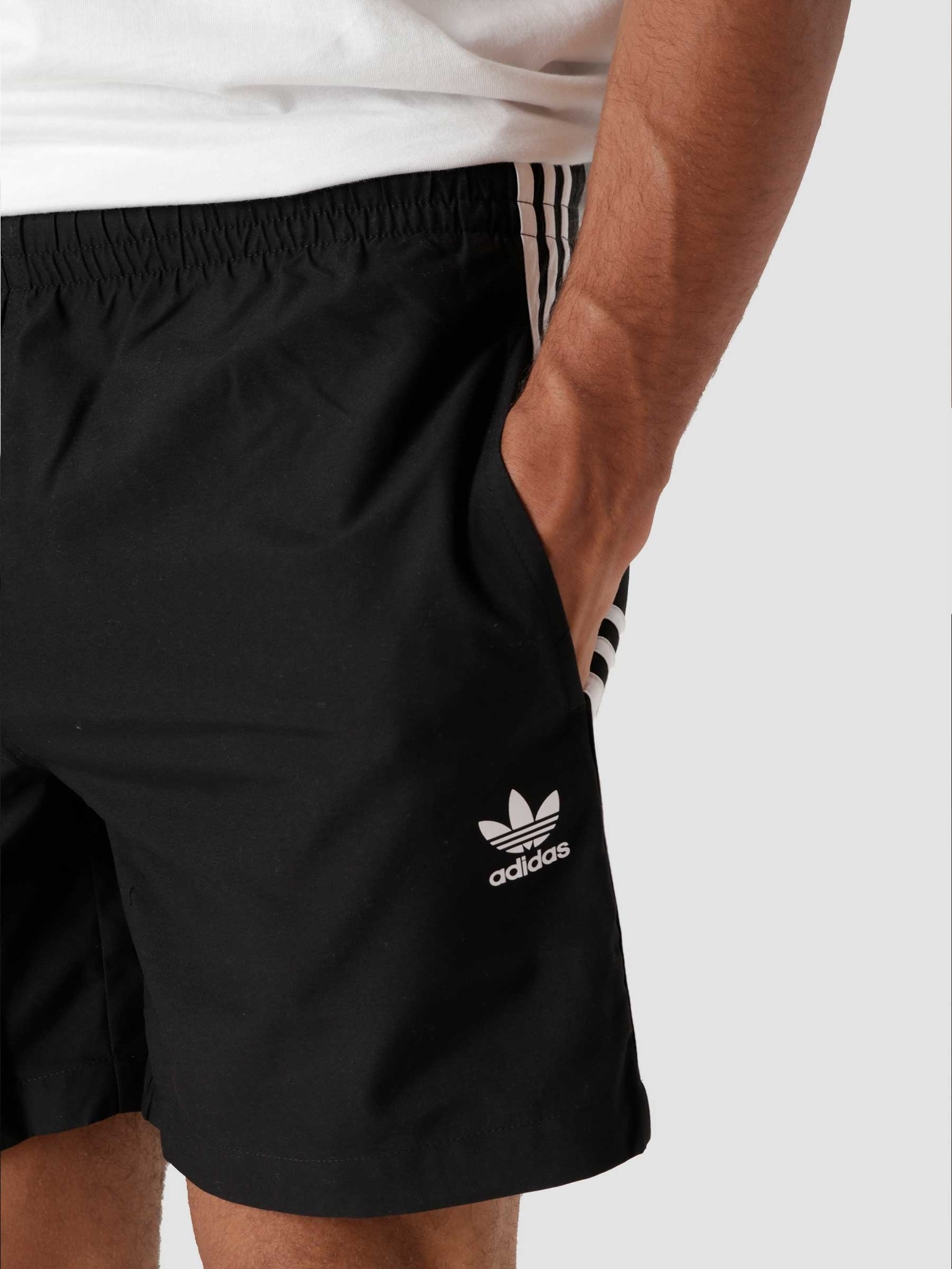 adidas adidas 3 Stripes Swim Black