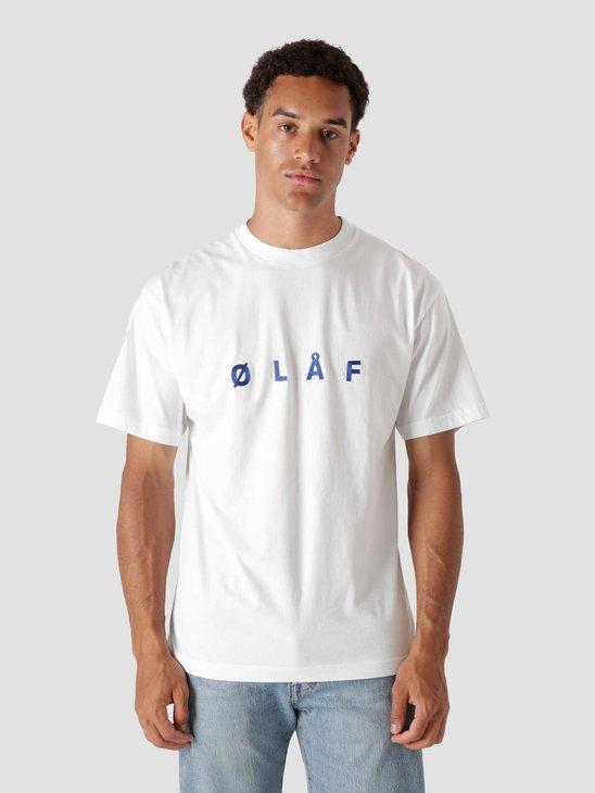 Olaf Hussein OLAF Chainstitch T-Shirt White