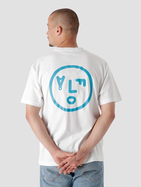 Olaf Hussein OLAF Face T-Shirt White Blue