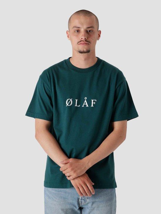 Olaf Hussein OLAF Serif T-Shirt Petrol