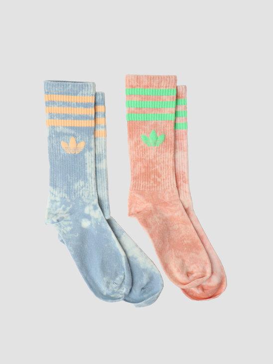 adidas Tie Dye Sock Ambient Sky Ambient Blush HA4677