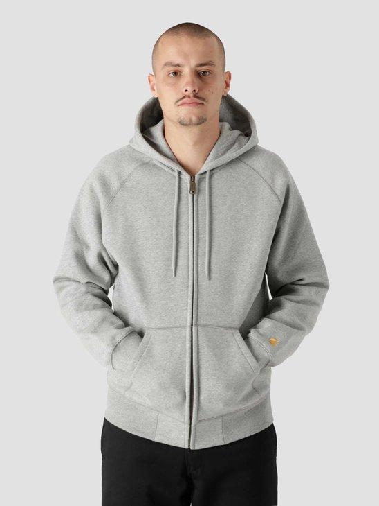 Carhartt WIP Hooded Chase Jacket Grey Heather Gold I026385