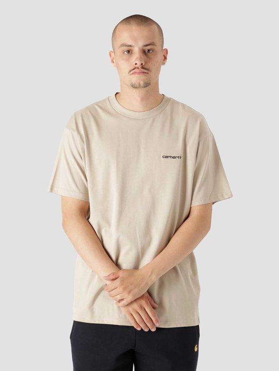 Carhartt WIP Script Embroidery T-Shirt Wall Black I025778