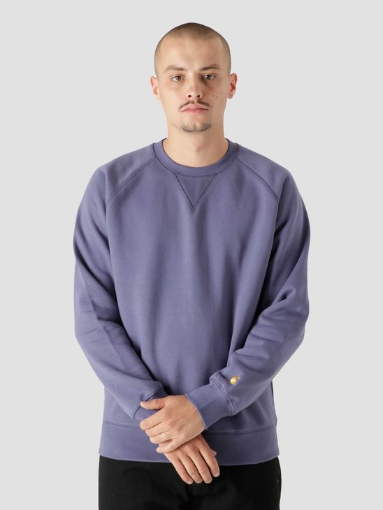 Carhartt WIP Chase Sweat Cold Viola Gold I026383