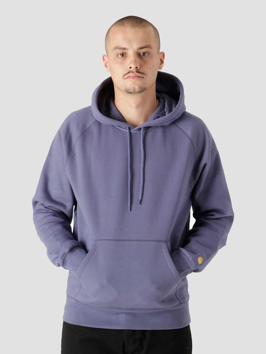 Carhartt WIP Hooded Chase Sweat Cold Viola Gold I026384