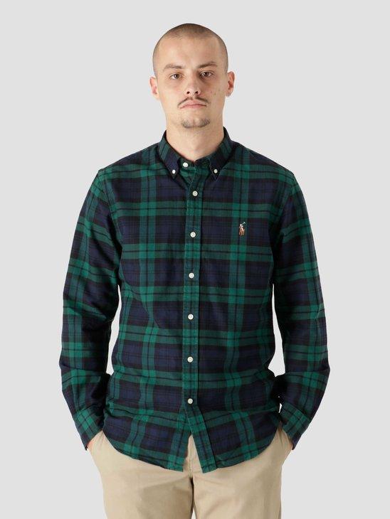 Polo Ralph Lauren 40-1 Yd Oxford Shirt 4904 Green Navy 710853154004