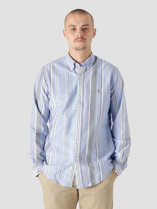 Polo Ralph Lauren 40-1 Oxford Shirt 5399 Blue White Multi 710853133002