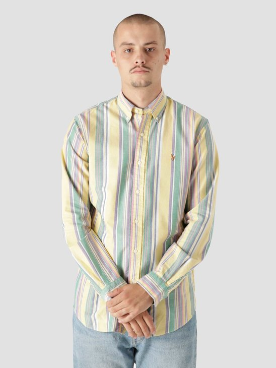 Polo Ralph Lauren 40-1 Oxford Shirt 5397 Yellow Blue Multi 710853133001