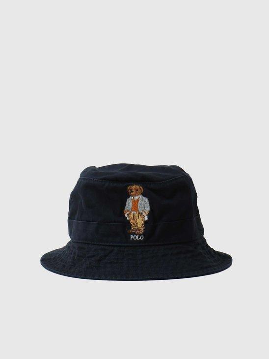 Polo Ralph Lauren 16-1 Loft Bucket Hat Aviator Navy 710852038001