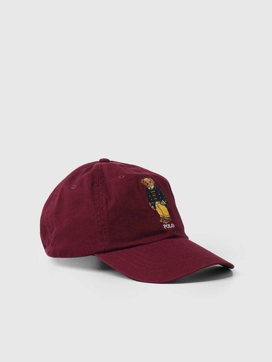 Polo Ralph Lauren Classic Sport Cap W-Bear Classic Wine 710851382003