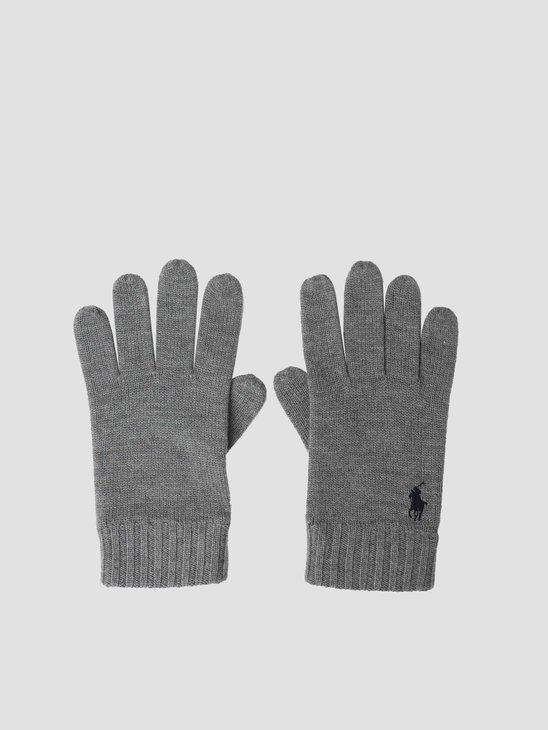 Polo Ralph Lauren Merino Wool Glove Fawn Grey Heather 710761416001