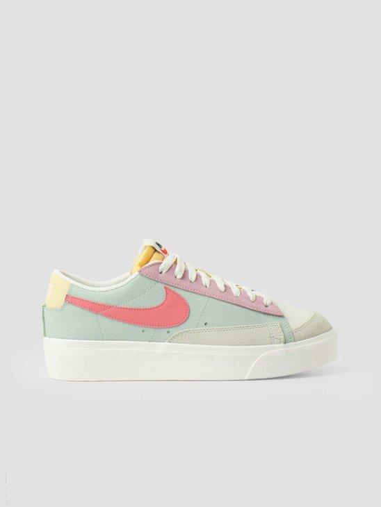 Nike Wmns Nike Blazer Low Platform Seafoam Pink Salt Sea Glass Saturn Gold DM9464-001