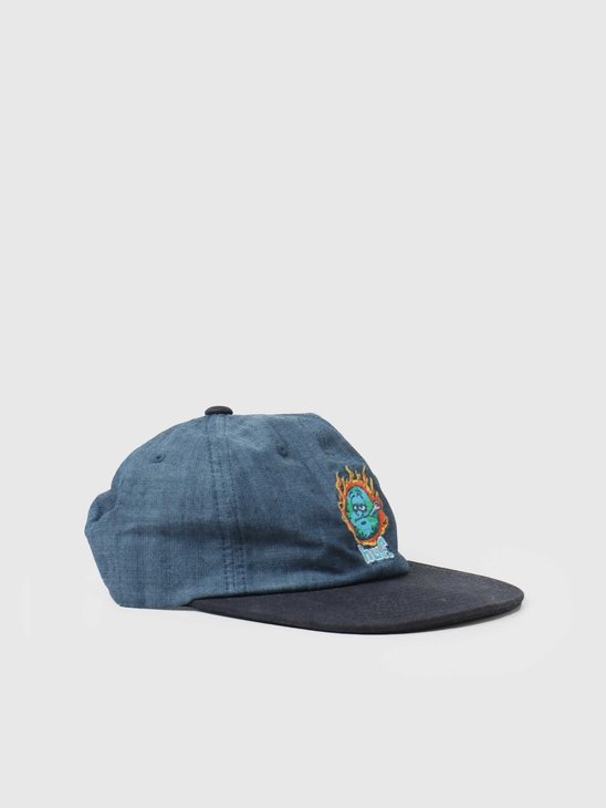 HUF Global Warming 6 Panel Hat Blue Chambray HT00553