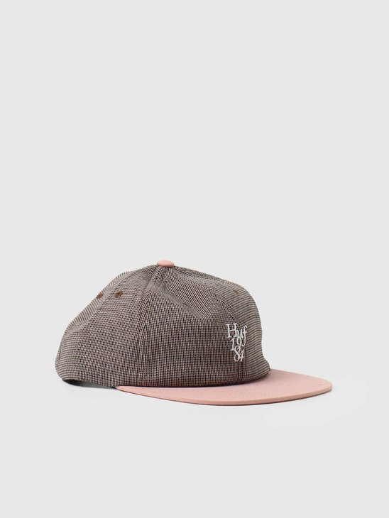 HUF Micro Houndstooth 6 Panel Hat Dusty Rose HT00554