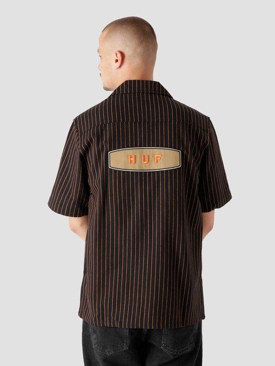 HUF Billy S/S Work Shirt Black BU00107