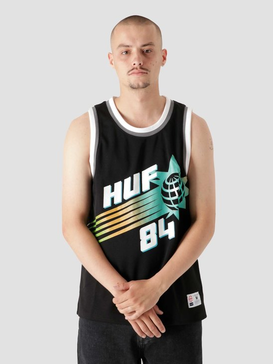 HUF Rebound Basketball Jersey Black KN00293