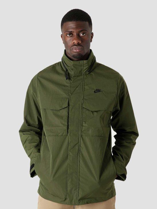 Nike M Nsw Te Ul Hd M65 Jkt Rough Green Black Black DC6770-326