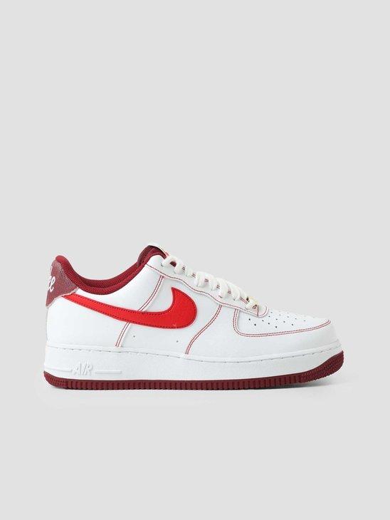 Nike Air Force 1 '07 White University Red Team Red Sail DA8478-101