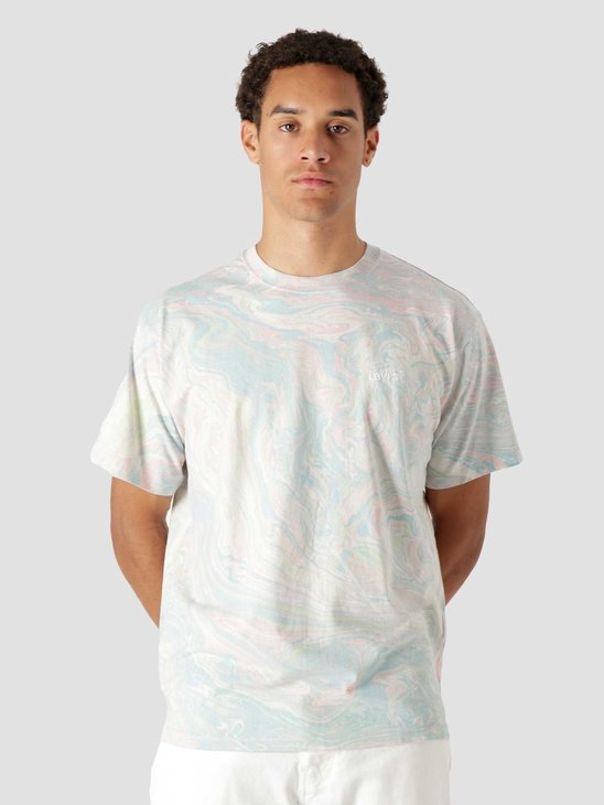 Levis Red Tab Vintage T-Shirt Marble Dye Multi Color A0637-0002