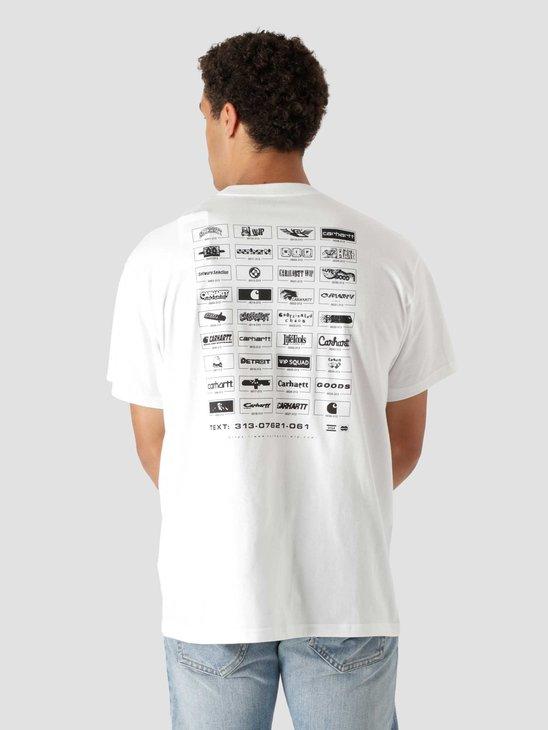 Carhartt WIP Screensaver T-Shirt White Black I029629