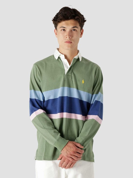 Polo Ralph Lauren 10-1 Jersey Long Sleeve Rugby Fatigue Multi 710850546001