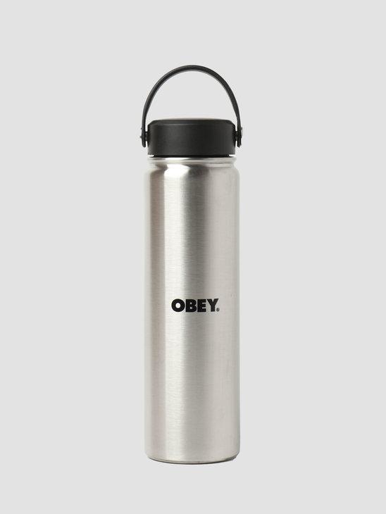 Obey Protest Bottle Water Bottle Silver Black 100320004