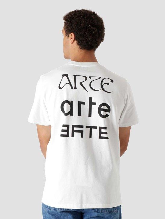 Arte Antwerp Tissot Back Multi Logo T-Shirt White AW21-073T