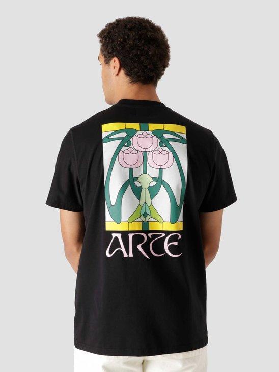 Arte Antwerp Tissot Back Roses T-Shirt Black AW21-058T