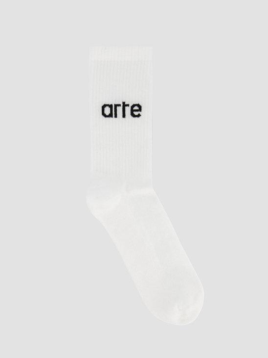 Arte Antwerp Logo Socks Socks White AW21-150AC