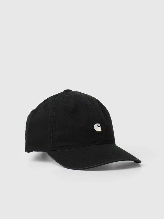 Carhartt WIP Madison Logo Cap Black White I023750