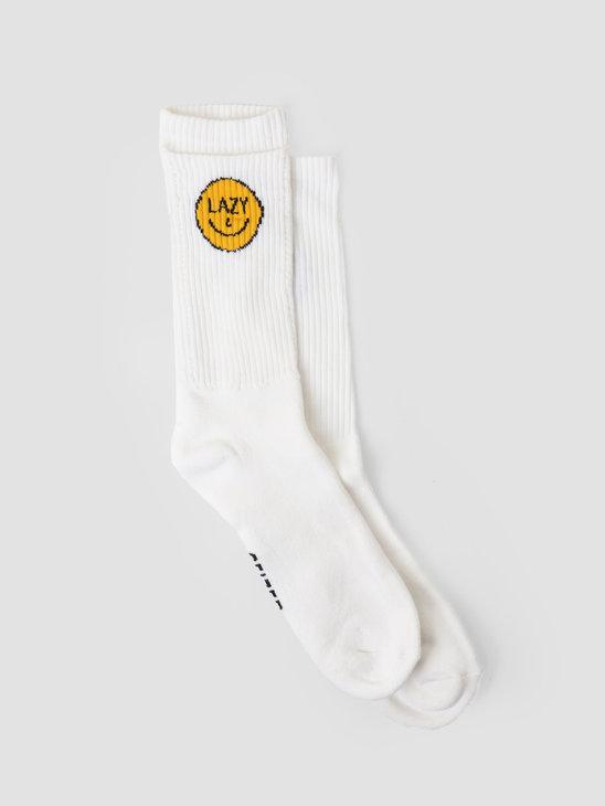 Ceizer x Pockies Lazy Socks White P600