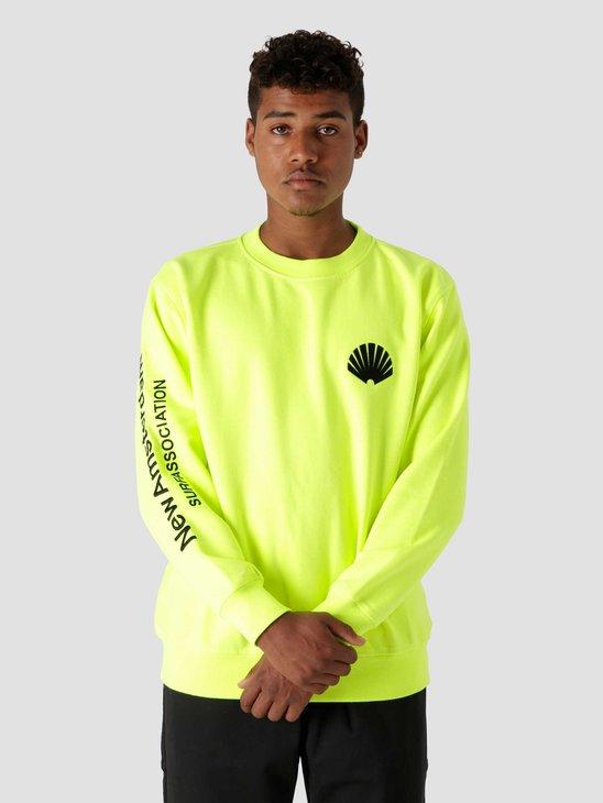 New Amsterdam Surf Association Logo Sweater Safety Green 2020038