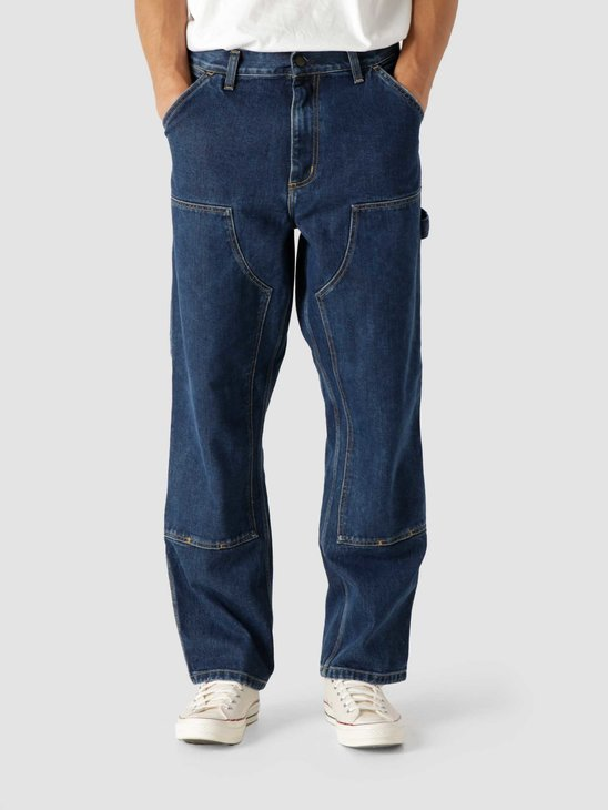 Carhartt WIP Double Knee Pant Blue Stone Washed I029206-106