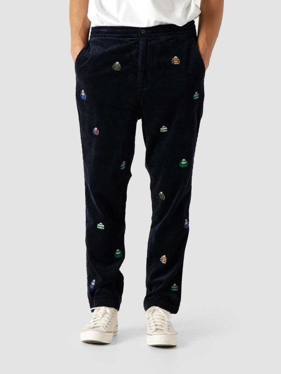 Polo Ralph Lauren 42-2 8W Corduroy Classic Fit Prepster Flat Front Hunter Navy 710850133001
