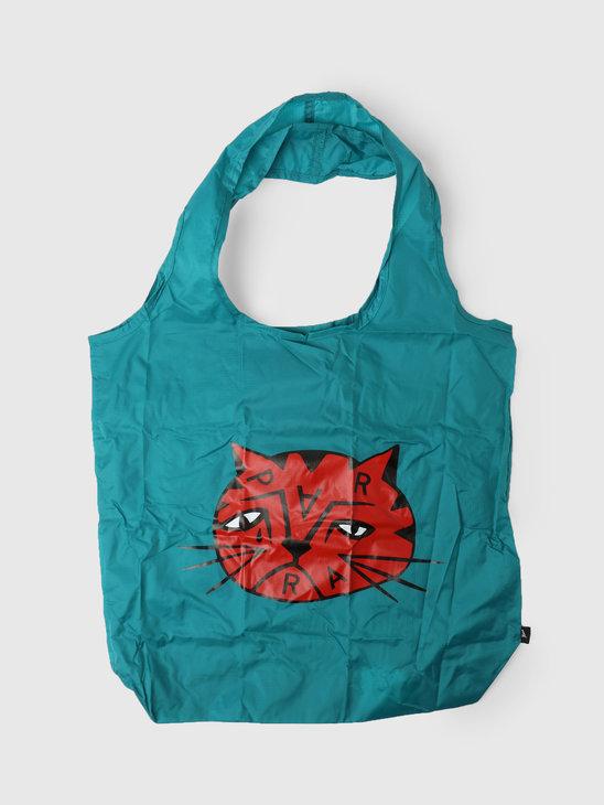by Parra Sad Cat Tote Bag Dusty Blue  46140