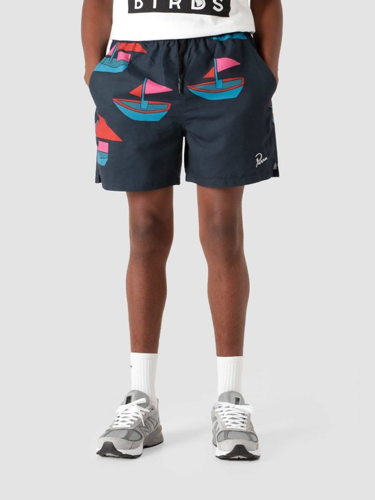 by Parra Paper Boats Swim Shorts Navy Blue  46155