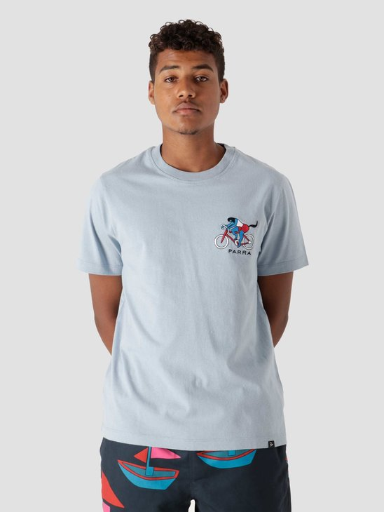 by Parra The Chase T-Shirt Dusty Blue  46115