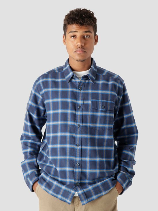 Patagonia M's LW Fjord Flannel Shirt Grange: New Navy 54020