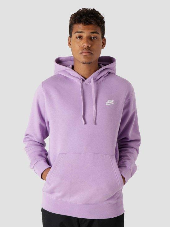 Nike M Nsw Club Hoodie Po Bb Violet Star Violet Star White BV2654-589