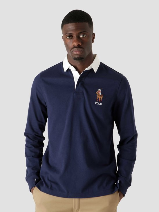 Polo Ralph Lauren 10-1 Jersey Long Sleeve Rugby French Navy 710853319001