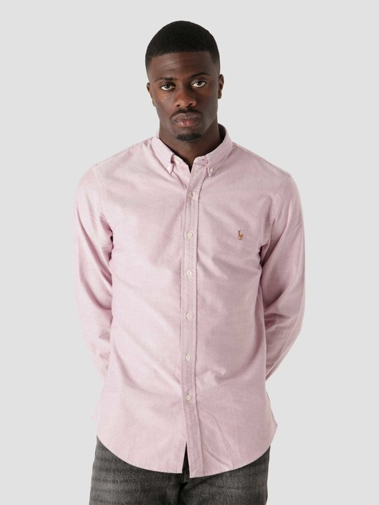 Polo Ralph Lauren Classic Oxford Shirt 2535C Crimson White 710852660001