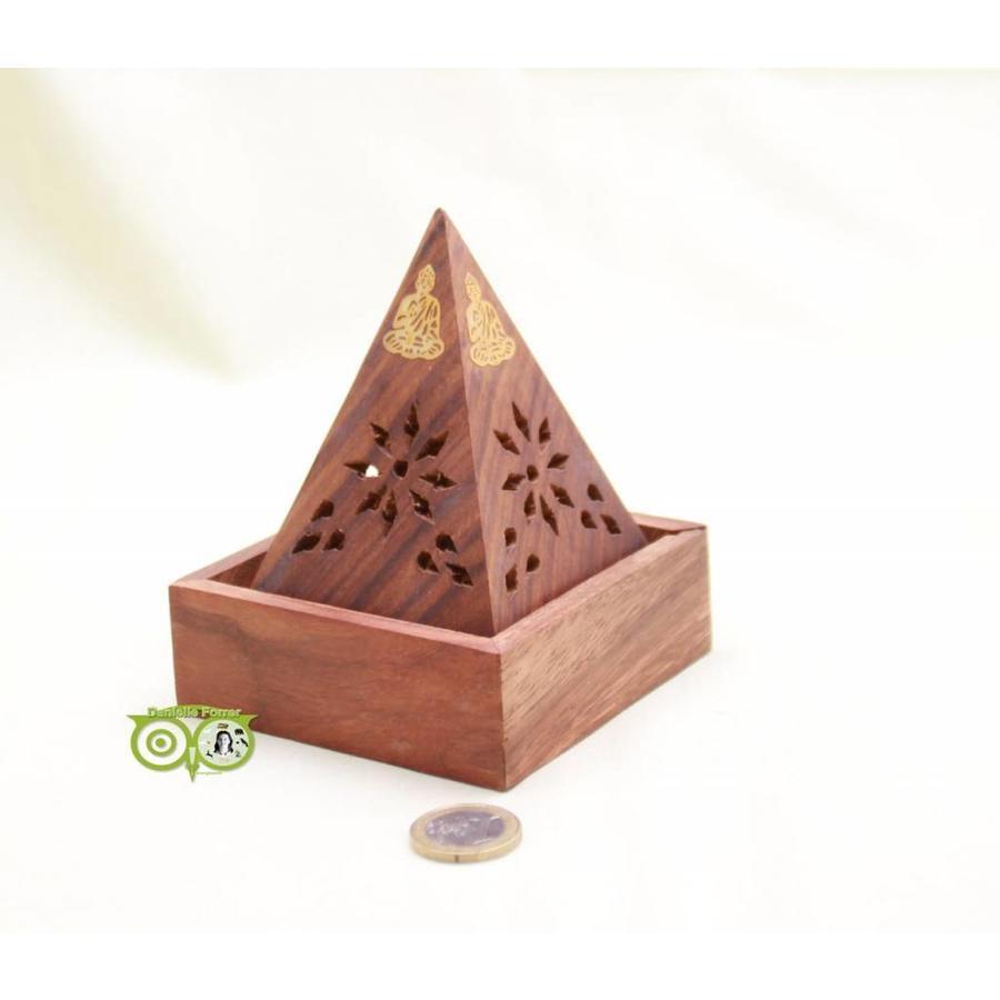 Sheesham Houten Wierook Piramide-4