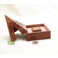 thumb-Sheesham Houten Wierook Piramide-2